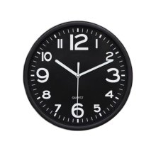 Nordic Wall Decorative Clock Stylish Classic Round Hanging Clocks Non-ticking Creative All Black