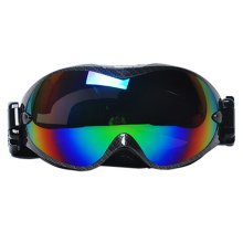 Professional Spherical Lenses Snowboard Ski Goggles Anti-fog Eyewear Black B