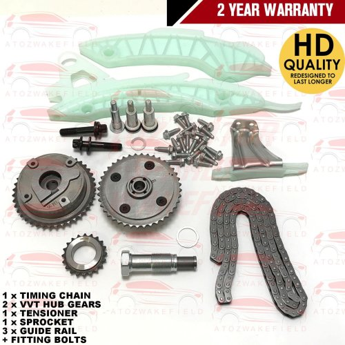 FOR MINI ONE CLUBMAN CLUBVAN R55 R57 R60 PETROL TIMING CHAIN KIT + VVT HUB GEARS