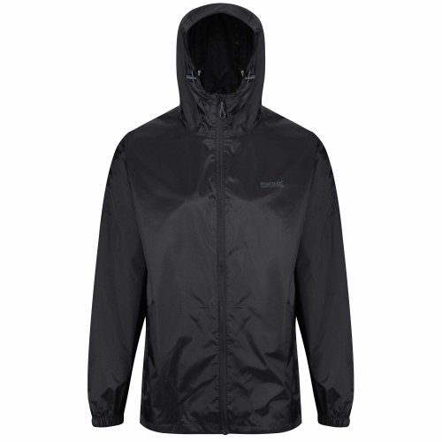 Regatta Men's Pack It III Waterproof Shell Jacket, Black, Medium