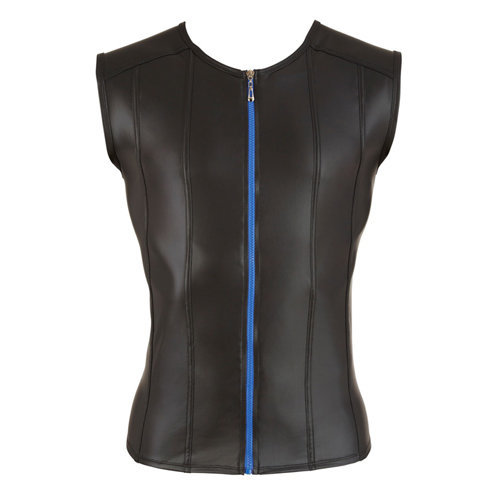 Men's Shirt With Blue Zipper Medium Men's Lingerie Shirts - Svenjoyment Underwear