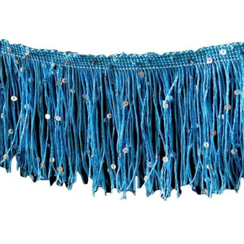 Dance Skirt Decoration Fringed Lace Length: 9.84 Feet Width:0.32 Feet #5