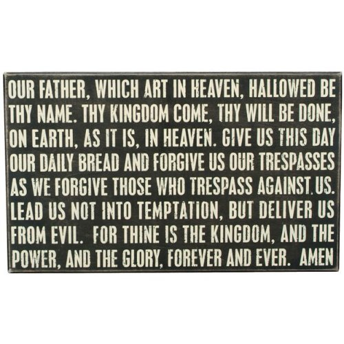 Primitives Box Sign - The Lord's Prayer