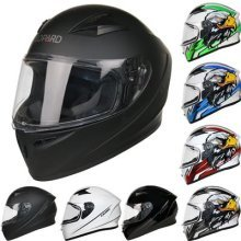 Leopard LEO-817 Falcon Full Face Motorbike Motorcycle Crash Helmet Road Legal - #1 Matt Black S (55-56cm)