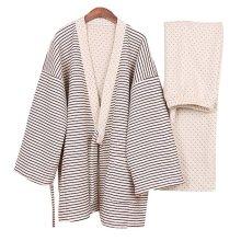 Thickening Air Layer Pajamas Suit Tracksuit Bathrobe Men's Kimono Pajamas