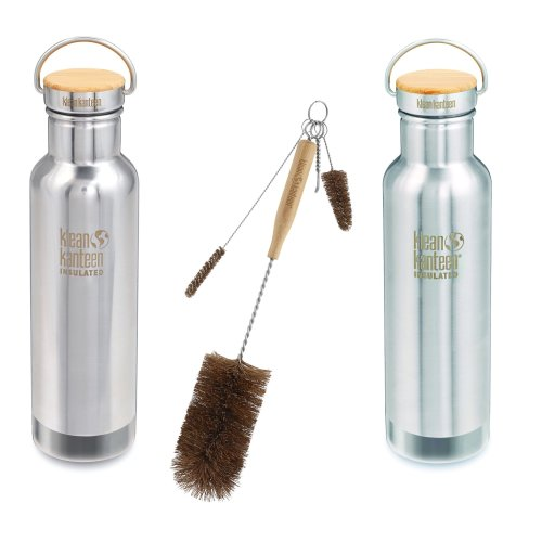 Klean Kanteen Reflect Insulated bottle Stainless Steel - with cleaning brush kit