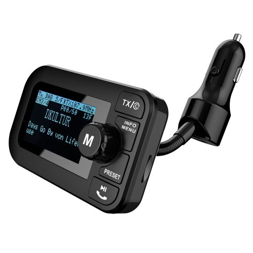 """angmno DAB105B DAB/DAB+ radio car kit with BlueTooth FM transmitter Car Charing function TF card MP3 PLAYER 2.3"""" LCD Screen +Handsfree Call AUX OUT..."""