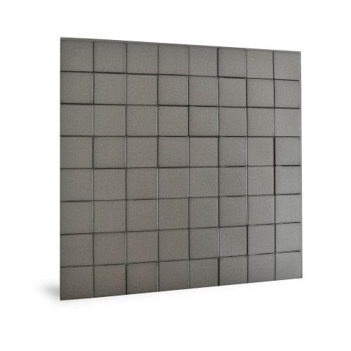 Profhome 3D 705258 Harmony Cubes Smoked Gray Decor panel 3D shiny grey 2,2 m2