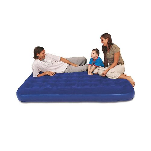 Bestway Inc Comfort Quest Flocked Double Bed With Sidewinder AC Pump - Blue