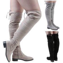 Women's Jeannie Low Heel Over the Knee Boots
