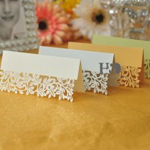 12Pcs Wedding Place Name Cards Leaf Personalised Tableware Seating Decoration