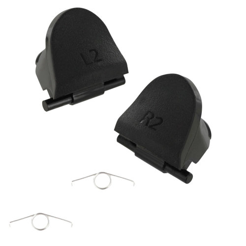 ZedLabz L2 R2 trigger button & spring set for 2nd generation V2 Sony PS4 controllers JDS-030 - black