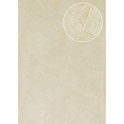 Atlas INS-5079-1 Render look wallpaper shiny light-ivory 7.035 sqm