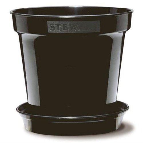 Stewart Garden Premium Flower Pot - 20.3cm - Black (2835005)