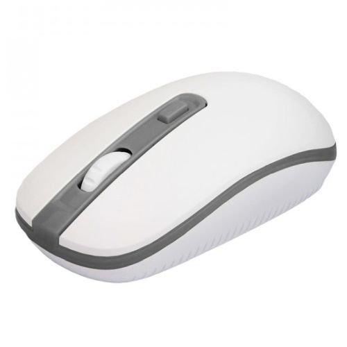 Approx APPWMVWG Wireless Optical Mouse, 800 - 1600 DPI, Nano USB, White & Grey