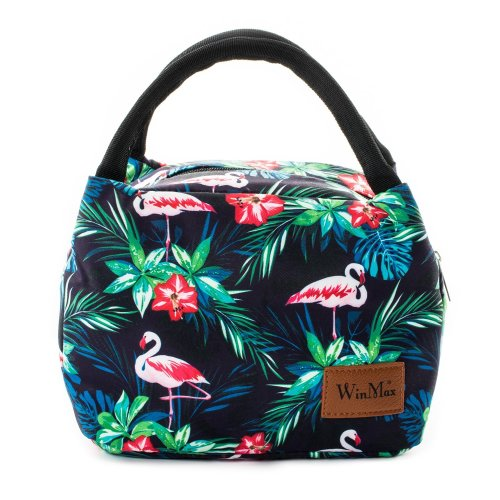 7004a7cd00b5 Lunch Cooler Bag, Insulated Lunch Box Bags, Portable and Reusable Lunch Bag  for Women by Winmax (Flamingo)
