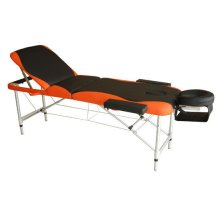 Homcom Light Weight Portable Massage Table Beauty Therapy - Black and Orange