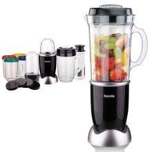 Sentik 8 in 1 Black Multifunctional Blender Chopper Food Processor Smoothie Maker Mixer