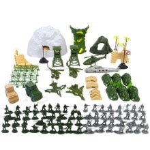 Soldier Scene Models Little Soldier Car Models Children's Toy Gifts - 150PCS