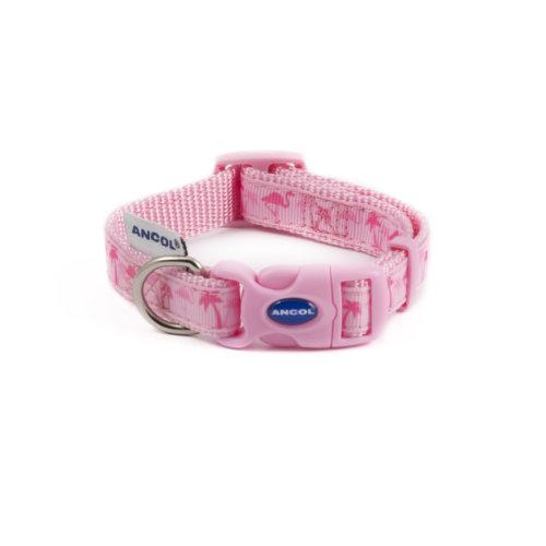 Fashion Adjustable Nylon Collar Flamingo 20-30cm