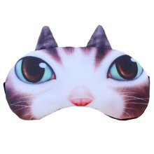 Cute Lovely Meowers Mask Ajustable Comfortable Sleep Mask Eye-shade Aid-sleeping, Chocolate color