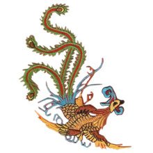 Creative Beautiful Chinese Phoenix Patches Cool Armband Badge Applique 5.1*5.1