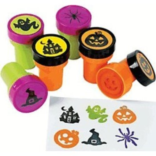 Pack of 6 - Plastic Iconic Halloween Stampers