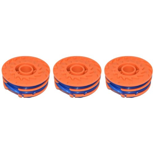 3 x Spool & Line For Worx WG118 Strimmers 5 Metre