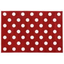 Carpet Runners Playmat - Red with White Polka Dot