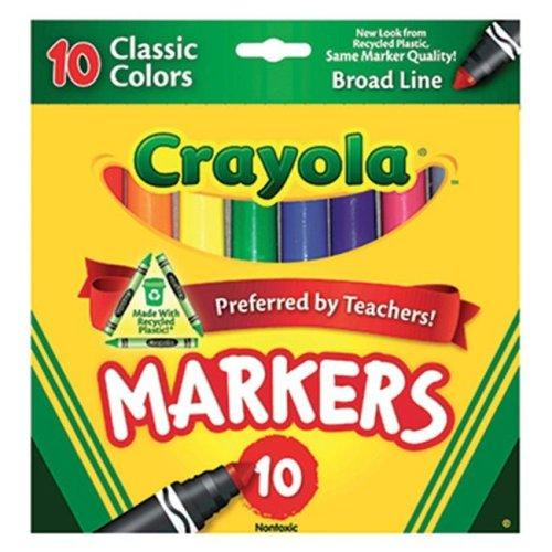 CRAYOLA TAKLON WATERCOLOR 10CT BRUSH CLASSIC BROAD LINE By CRAYOLA LLC