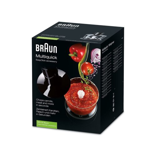 Braun MultiQuick EasyClick Crusher 500ml MQ30 Chopping Attachment - Black