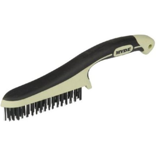 Hyde Tools 46841 11 in. Maxxgrip Pro High Carbon Steel Wire Brush