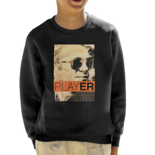 (X-Small (3-4 yrs)) Steve McQueen 1965 Player Poster Sepia Kid's Sweatshirt
