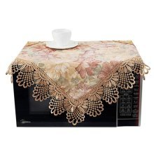 Elegant Floral Print Microwave Oven Dust Cover Dustproof Cloths