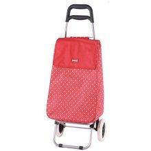 Sabichi Jeanie Red & White Spot 2 Wheel Shopping Trolley -