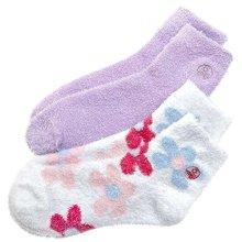 Aloe Therasoft Moisturizing Socks: 2 Pack Lavender & Flowers