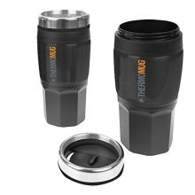 Insulated Rubber Mug 400ml | Black Travel Flask