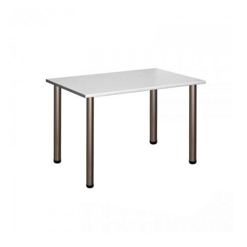 Computer Desk Office Dining Table Workstation Satin Legs Gray Top 120x80cm