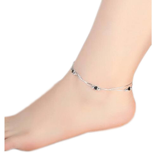 Sterling Silver Beautiful Anklet Ornaments Decor For Woman-A19