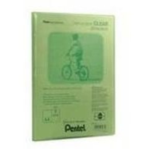 Pentel Display Book Clear Green personal organizer