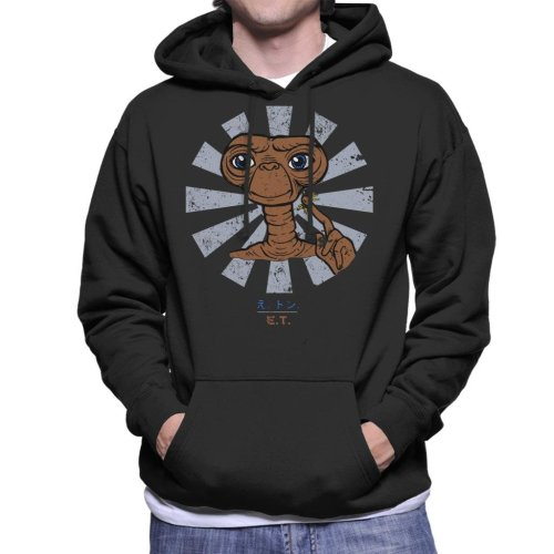 ET Extra Terrestrial Retro Japanese Men's Hooded Sweatshirt