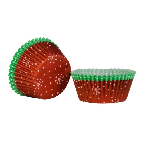 Christmas Cupcake Cases, Large - Set of 40, Red/Green