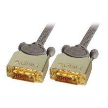 Lindy 37140 0.5m DVI-D DVI-D Grey DVI cable