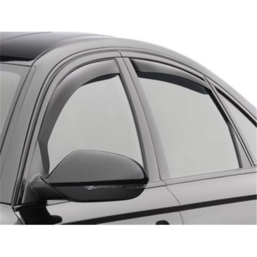Weathertech W24-82703 Front & Rear Side Window Deflectors for 2012-2018 Audi A6, Dark Smoke