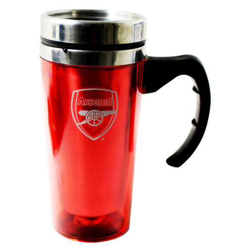 Arsenal Aluminium Travel Mug - Official Football New -  official aluminium travel mug football arsenal new