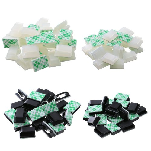100 Pieces Adhesive Cable Clips Drop Cable Management Clips