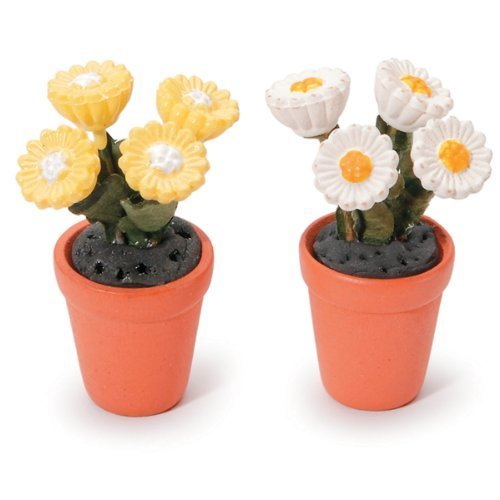 Timeless Miniatures-Potted Daisies 2/Pkg