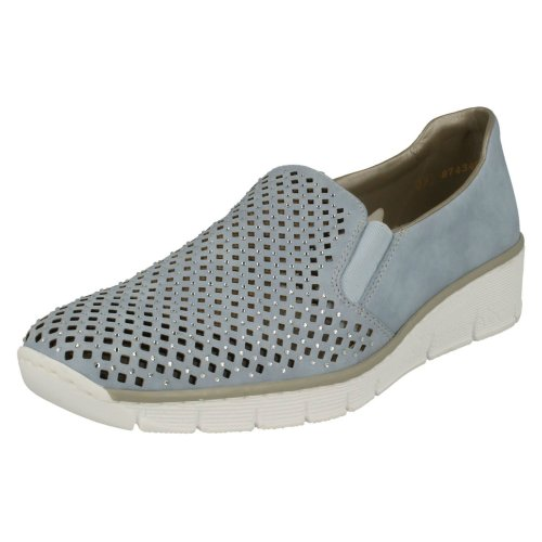Ladies Rieker Slip On Loafers 537A6