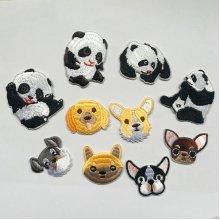 10Pcs Animal Cloth Dress Patch Iron on