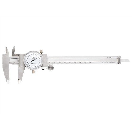 Moore & Wright MW141-15 Dial Caliper White Face 0-150mm